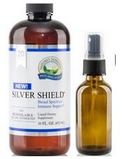Silver Shield 16 oz. [20ppm]  with amber bottle and sprayer